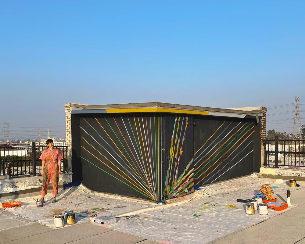 1. Caroline Geys_Art House_Vortex Mural_In Progress-2