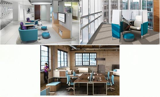 "Steelcase line of furniture ""Brody"" for flexible workplace design"