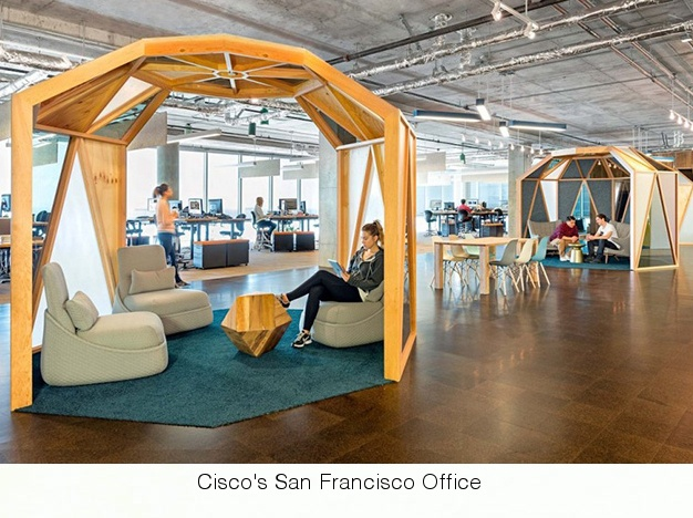 Cisco's Redesigned Huddle Room in San Francisco Office