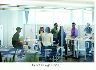 Citrix mobile and fleixble workplace design in Raleigh, North Carollina