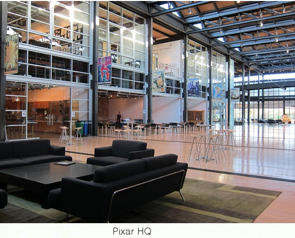 Steve Job's designed Pixar HQ Campus